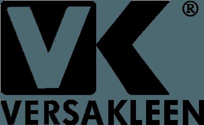 Versakleen logo for https://endurasteel.com surgical scrub sinks web site in black for site link