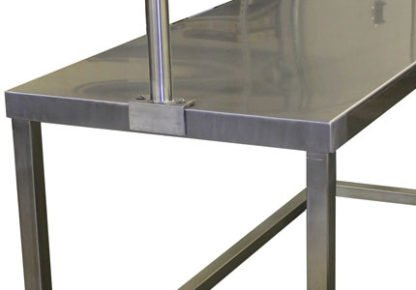 EnduraSteel™ Stainless Steel Clothes Sorting Table side view