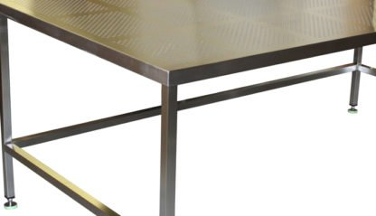 EnduraSteel™ Stainless Steel Perforated Wafer Handling Table perforated table and underbracing detail