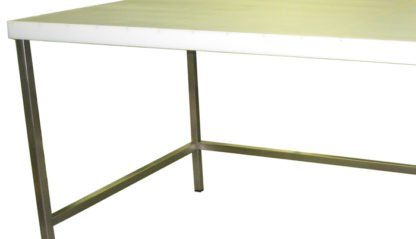 EnduraSteel™ Stainless Steel Chemical Engineering Table with UHMW Work Surface showing side detail