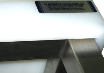 EnduraSteel™ Stainless Steel Chemical Engineering Table with UHMWPE Work Surface showing UHMW detail