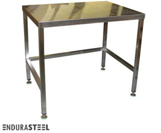 EnduraSteel™ Stainless Steel Perforated Clean Room Table