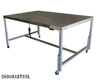 EnduraSteel™ Stainless Steel Automatic Four Post Electric Lift Exam Table front view