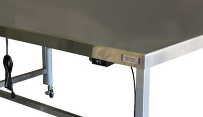 EnduraSteel™ Stainless Steel Automatic Four Post Electric Lift Exam Table lift button controller detail