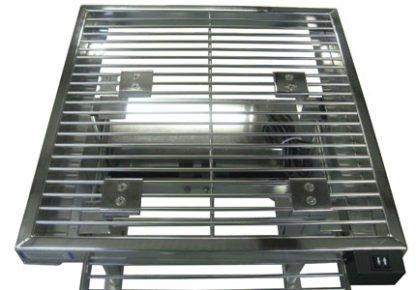 EnduraSteel™ Electropolished Adjustable Height Stainless Steel Rod Top Table rod top detail