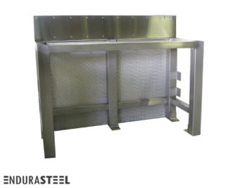 EnduraSteel™ Stainless Steel Customs Documentation Table with EnduraSteel logo
