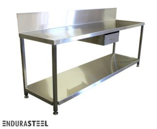 EnduraSteel™ Stainless Steel Laboratory Prep Workstation front view