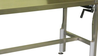 EnduraSteel™ Stainless Steel Manual Four Post Lift Table side view