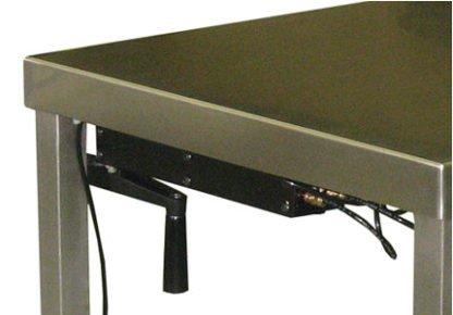 EnduraSteel™ Stainless Steel Manual Four Post Lift Table lift mechanism detail