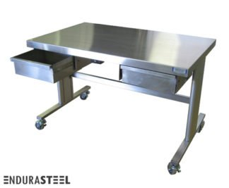 EnduraSteel™ Stainless Steel Automatic Lift Table front view
