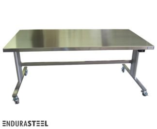 EnduraSteel™ Stainless Steel Automatic Electric Lift Table front view