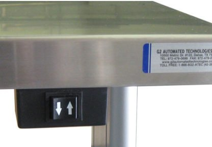EnduraSteel™ Stainless Steel Automatic Electric Lift Table view of lift button control