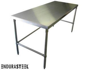 EnduraSteel™ Stainless Steel Economical Kitchen Work Table shown with EnduraSteel logo