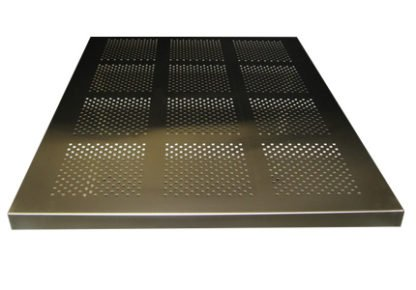 EnduraSteel™ Perforated Stainless Steel Table Tops image from side