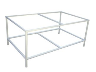 EnduraSteel™ Powder Coated Mild Steel Table Frames for building custom glass tables and more