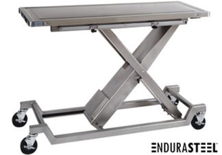 EnduraSteel™ Stainless Steel Medical Lift Table with Casters