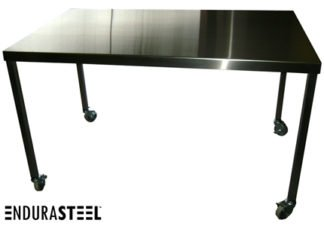 EnduraSteel™ Stainless Steel Medical Prep Table with Casters