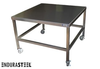 EnduraSteel™ Stainless Steel Transport Cart with EnduraSteel logo