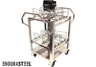 Stainless Steel Wafer Transport Cart