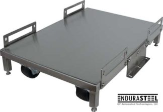 EnduraSteel™ Stainless Steel Uninterruptible Power Supply Cart with EnduraSteel logo