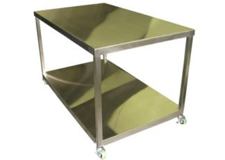 EnduraSteel™ Stainless Steel Table with Casters