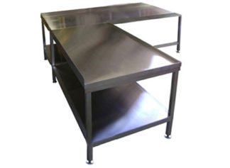 EnduraSteel™ Stainless Steel Corner Table
