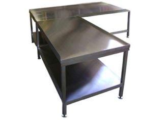 EnduraSteel™ Stainless Steel Corner Table