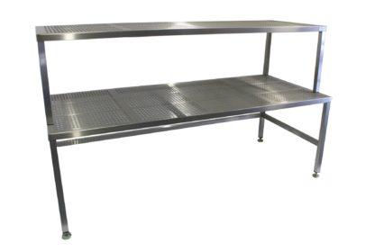 EnduraSteel™ Perforated Stainless Steel Supply Rack and Storage Table