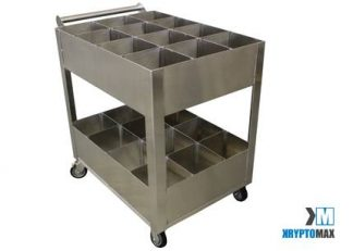 KryptoMax® Stainless Steel Kitch Utility Cart